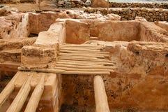 Utgrävning på Malia Arkivbild