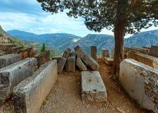 Utgrävningar av den forntida staden (Grekland) Arkivbilder