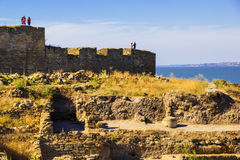 Utgrävningar av fästningen Arkivfoton