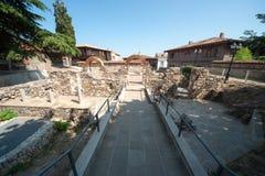 Utgrävningar i det forntida av Sozopol Arkivbilder