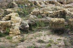 Utgrävningar under Neumarkten i Dresden Arkivfoton