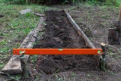 Utgrävningarbete på lantgården Arkivfoton