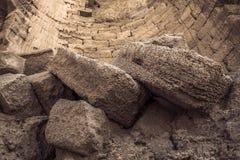 Utgrävningen av en övergiven stad Arkivbilder