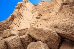 Utgrävningen av en övergiven stad Arkivfoton