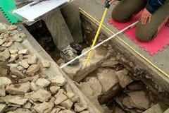 utgrävningforthenry kingston ontario fotografering för bildbyråer