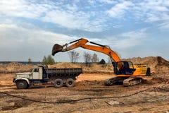 Utgrävninggrop Arkivfoto