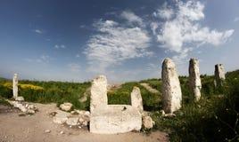 utgrävningisrael park Royaltyfri Bild
