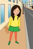 uthärda flickanallen vektor illustrationer