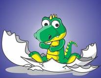 Uthärdad gullig krokodil Royaltyfri Bild