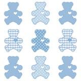 uthärdar blå pastellfärgad nalle Royaltyfria Bilder