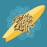 Uthärdat för att surfa bokstäverkonst Royaltyfri Fotografi