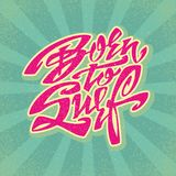 Uthärdat för att surfa bokstäverkonst Royaltyfri Foto