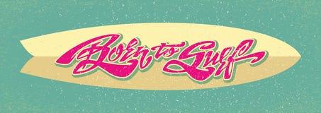 Uthärdat för att surfa bokstäverkonst Royaltyfria Bilder