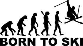 Uthärdat till Ski Stunt Evolution royaltyfri illustrationer