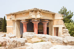 Uthus av Knossos Arkivfoto