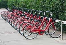 Uthyrnings- station för stads- cykel i Moskva Royaltyfria Foton
