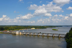Starved Rock Lock and Dam Royalty Free Stock Image