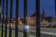 UTICA, NY, США - ОКТЯБРЬ 03, 2018: История церков святой троицы римско-католической в Utica, Нью-Йорке начинает 102 лет назад в O стоковые изображения