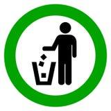 Utilice el bote de basura Fotos de archivo libres de regalías