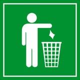 Utilice un bote de basura, el ningún dejar en desorden Foto de archivo libre de regalías