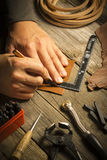 Utilidade de couro feito a mão - imagem conservada em estoque Imagens de Stock