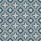Utilisé kaléidoscope antique sans couture de fleur du fond 151_cross Photographie stock libre de droits