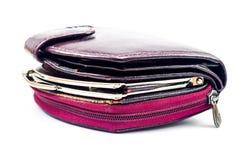 Utilisés portefeuilles en cuir utilisés de dames Image stock