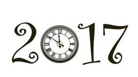 2017 utilisant l'horloge pour zéro Image libre de droits