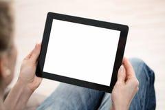 Utilisant le comprimé numérique photos libres de droits