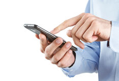 Utilisant le téléphone intelligent Photos libres de droits