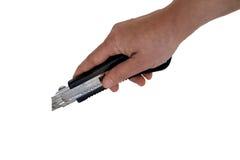 Utilisant un couteau Images libres de droits