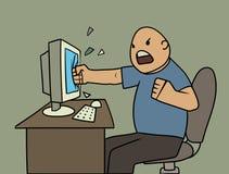 Utilisateur fâché illustration de vecteur