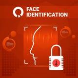Utilisateur n'obtenant aucun Access après l'identification de visage balayant la technologie moderne du concept de reconnaissance Photos stock