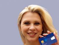 Utilisateur par la carte de crédit Images libres de droits