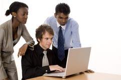 Utilisateurs d'ordinateur portatif Images libres de droits