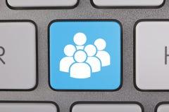 Utilisateurs sociaux de blanc de réseau de media Images libres de droits