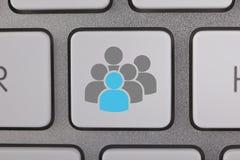 Utilisateurs sociaux de réseau de media Image libre de droits