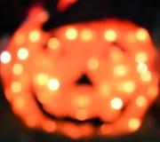 Utilisation abstraite Defocused des textes de fond de Halloween de lumières oranges de potiron prête photos libres de droits