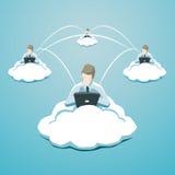Utilisation d'affaires de technologie de nuage Photographie stock libre de droits