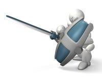 Utilisation d'une épée Photo stock