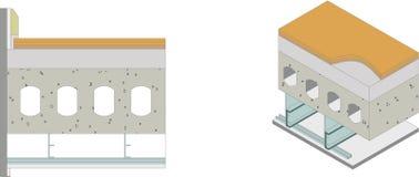 Utilisation de matériaux de construction illustration stock