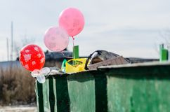 Utilisation des ballons. Image stock