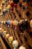 Utilisation des mains d'un groupe de clés Photographie stock