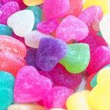 Utilisation en forme de coeur colorée de sucrerie pour le fond Photo stock