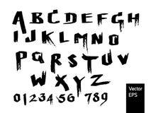 Utilisation manuscrite de police pour le symbole ou le logo ou les mots Photos libres de droits