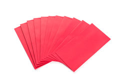 Utilisation rouge d'enveloppe dans le festival chinois de nouvelle année sur le blanc Photographie stock libre de droits