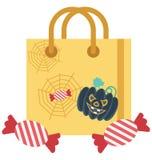 Utilisation spéciale d'icône d'illustration de Halloween Tote Bag Isolated Color pour Halloween illustration stock