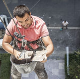 Utilitarian climbing alpinism Royalty Free Stock Image