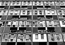Utilitaristischer Block Lissabon Schwarzweiss Lizenzfreie Stockfotos