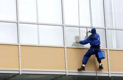 Utilitary wysokogórzec okno cleaner Fotografia Royalty Free
